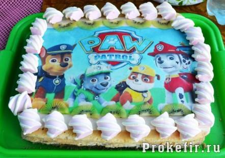 Торт шченячий патрул для девочки кремовый стретч: фото 442кс310