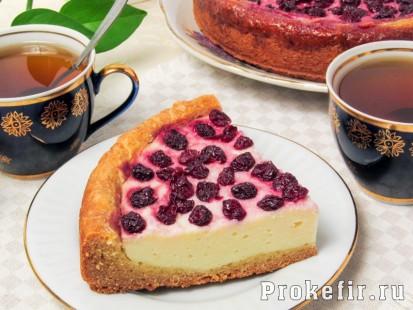 Творожный пирог с вишней из песочного теста стретч: фото 413кс310