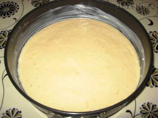 Тесто на кефире для бананово-творожного пирога