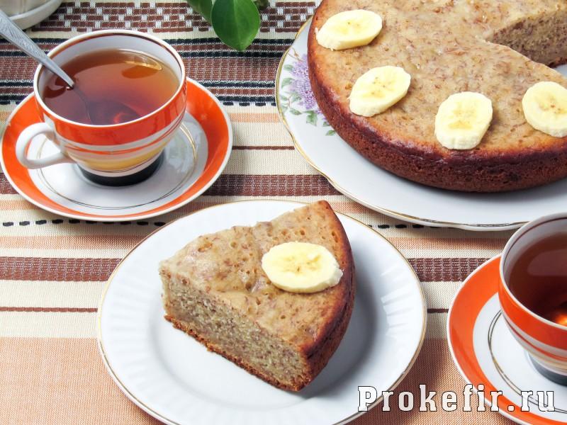Банановый кекс в мультиварке без сливочного масла на кефире: фото 7