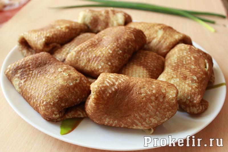 Блинчики с луком и яйцом на кефире: фото 11