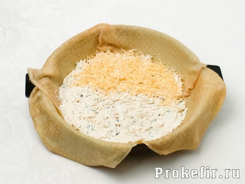 Блинный пирог с курицей и грибами и сыром в духовке: фото 5