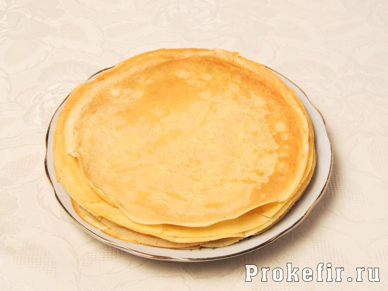 Блинный пирог с творогом улитка в духовке: фото 3