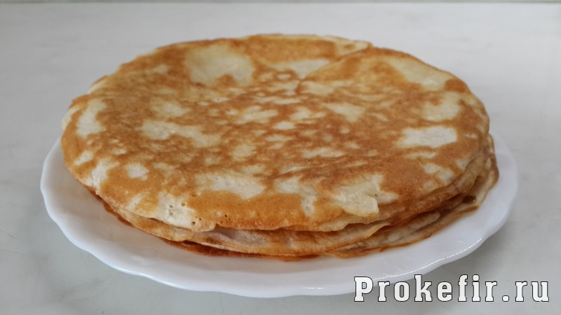 Блинный пирог с творожной начинкой: фото 2