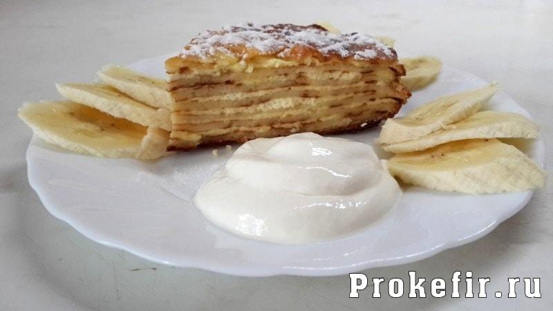 Блинный пирог с творожной начинкой: фото 8