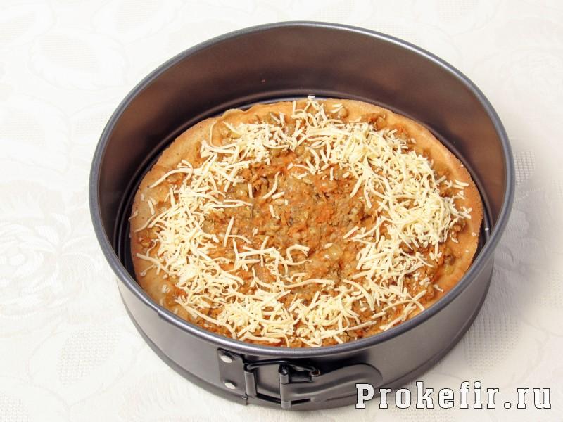 Блинный торт с курицей и грибами на кефире: фото 8