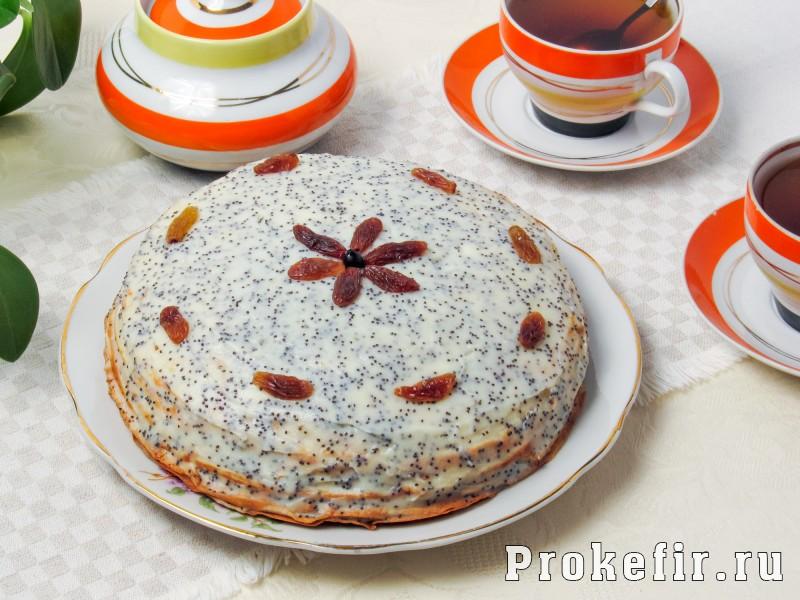 Блинный торт с заварным кремом: фото 9