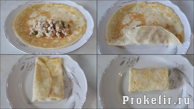 Блины с куриным фаршем рецепт с пошаговым фото: фото 9
