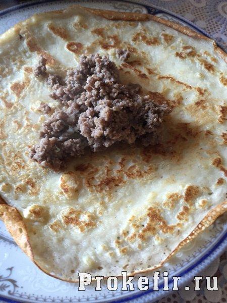 Блины с мясом и творогом на кефире: фото 6
