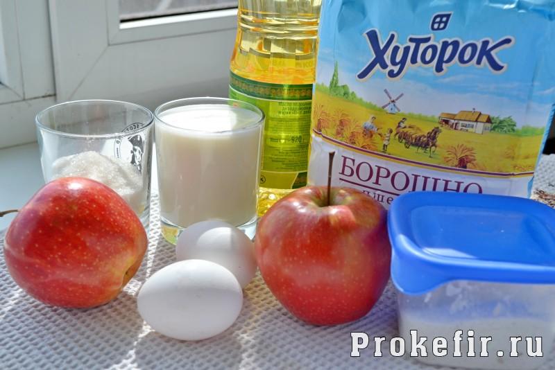 Блины с припеком с яблоками на кефире: фото 1