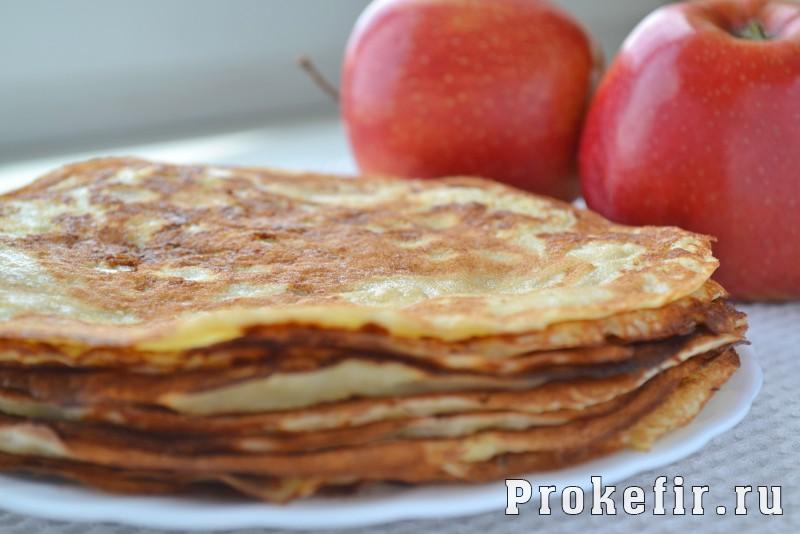 Блины с припеком с яблоками на кефире: фото 6