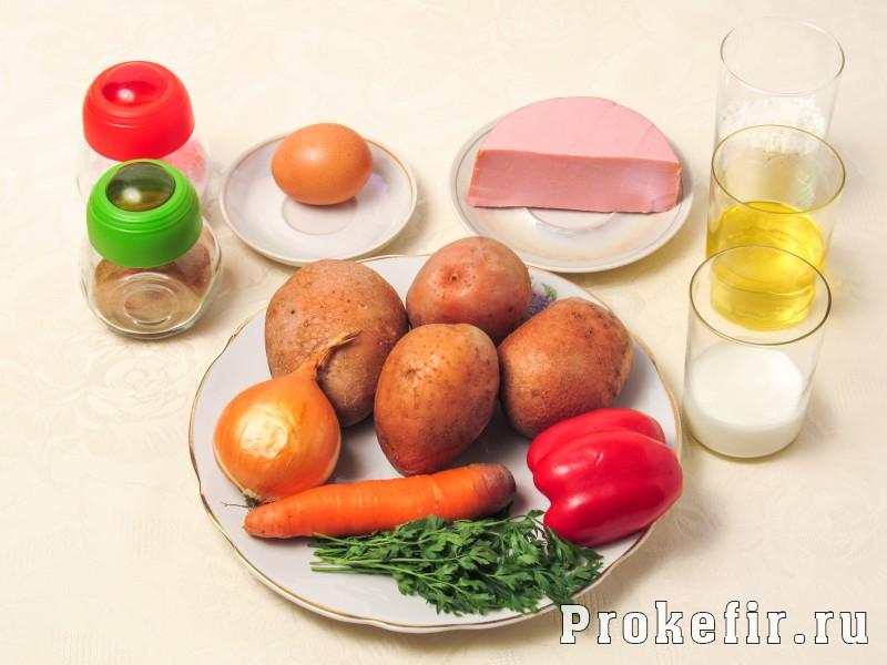 Драники с колбасой и овощами на кефире: фото 1