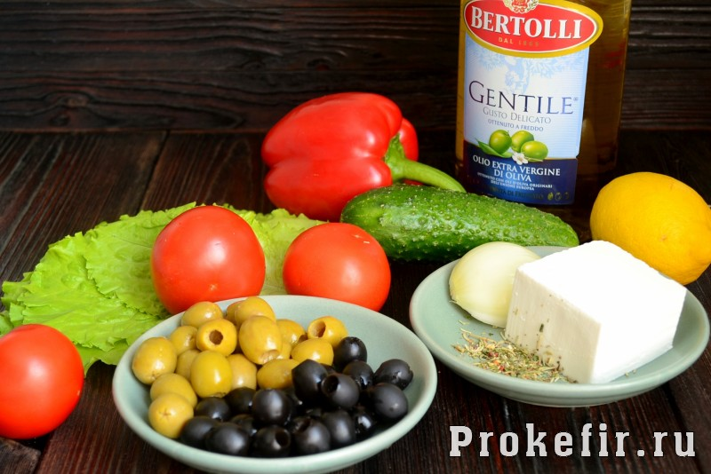 Греческий салат рецепт с фетаксой: фото 1