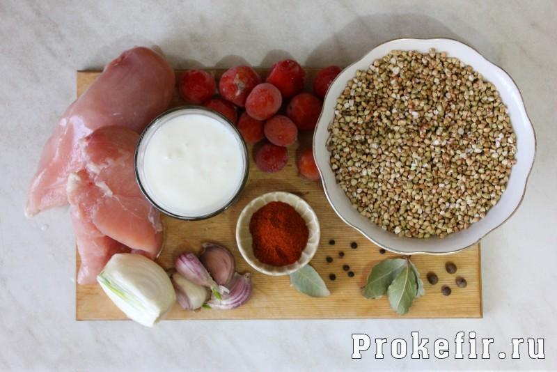 Гречка в горшочке в духовке с курицей в соусе из кефира: фото 1