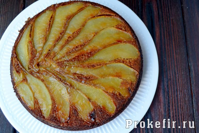 Грушевый пирог на кефире с медом и имбирем в духовке: фото 10