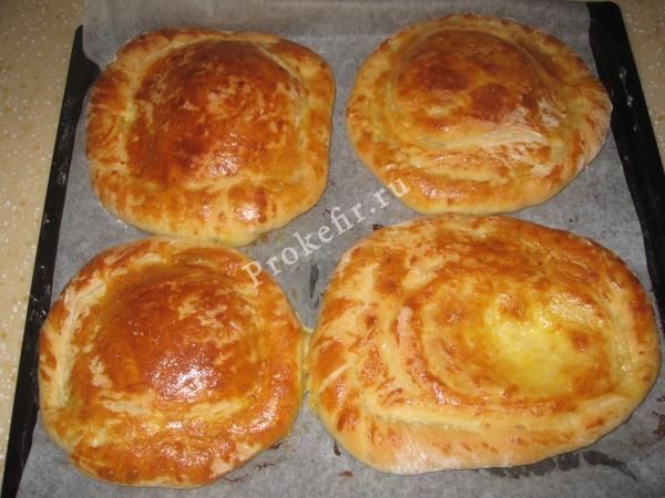 Тесто на кефире для хачапури