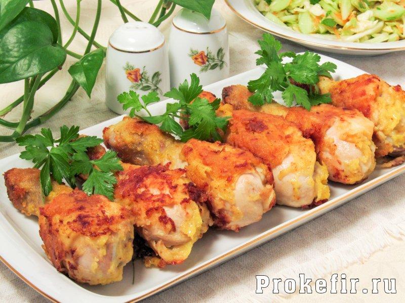 Как приготовит куриные голени на сковороде с хрустяшчей корочкой в кляре