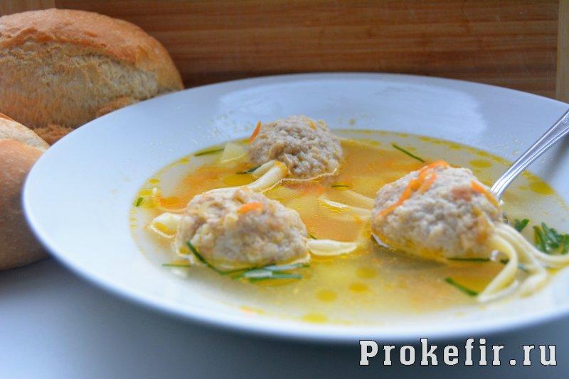 Суп с фрикадельками пошаговый рецепт пошагово