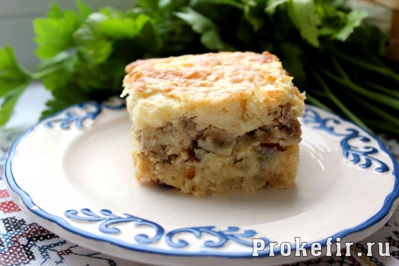 Быстрая картофельная запеканка с фаршем в духовке рецепты пошагово