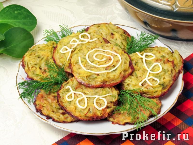 Картофельные драники с фаршем в духовке