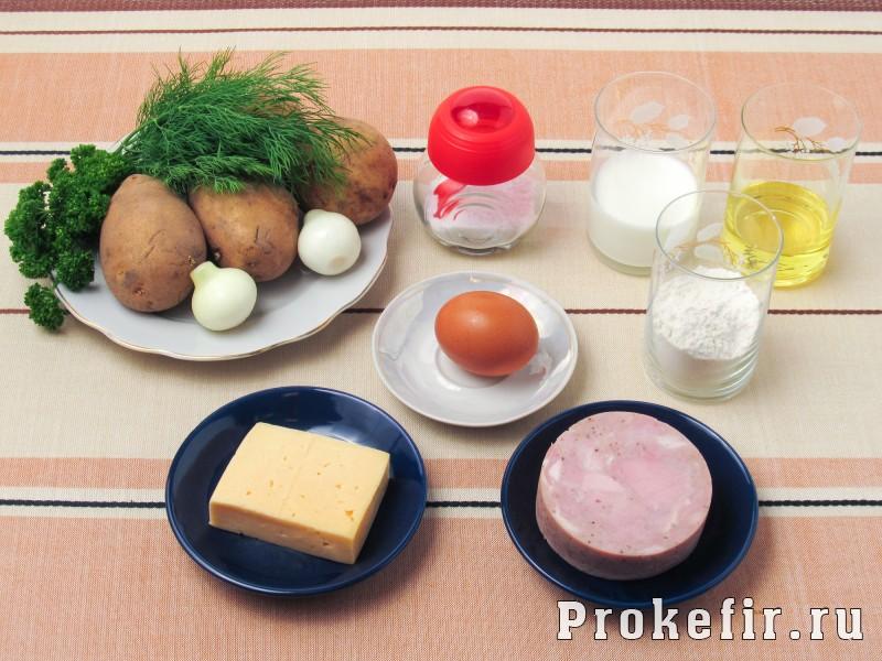 Картофельные драники с ветчиной сыром и зеленью: фото 1