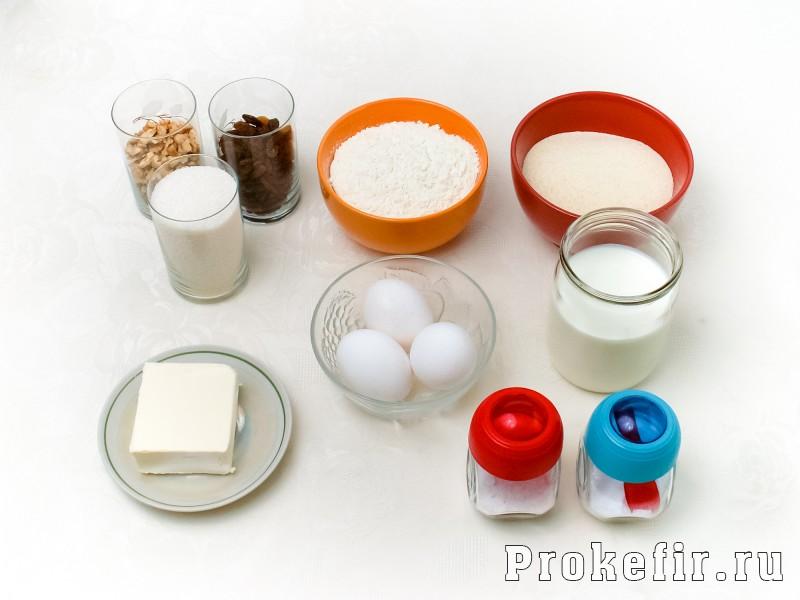 Кекс с манкой на кефире: фото 1