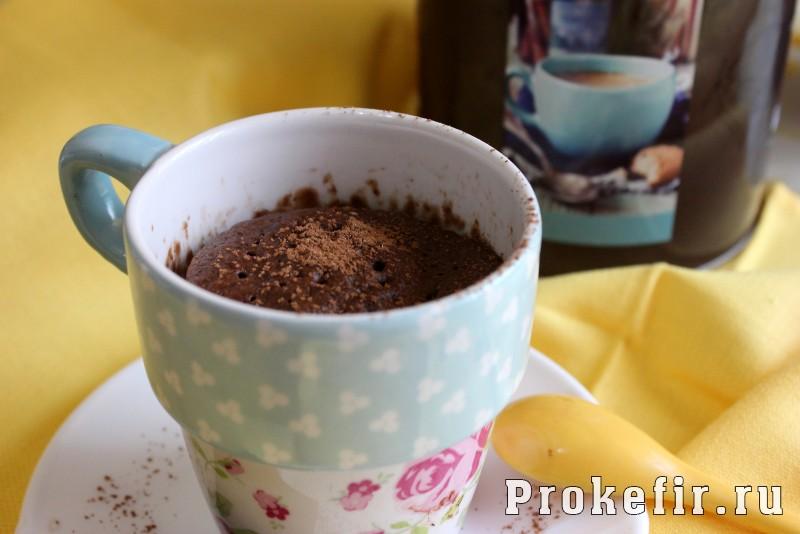 Кекс в микроволновке с кофе