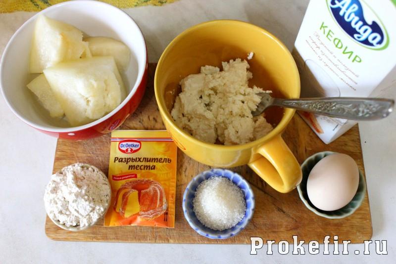 Кексы с дыней и творогом на кефире: фото 1