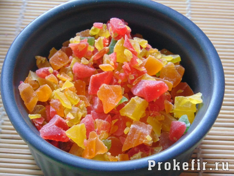 Кексы с цукатами на кефире: фото 13