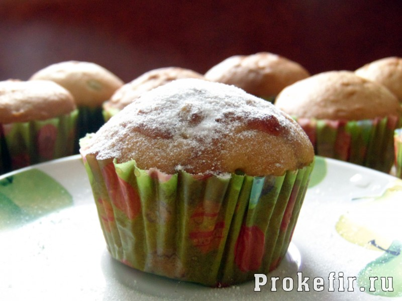 Кексы с цукатами на кефире: фото 23