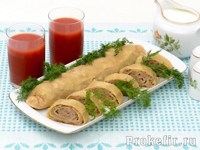 Ханум в фольге в духовке с картошкой и мясом