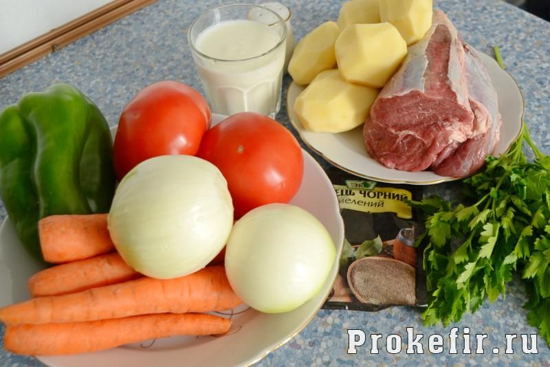 Хашлама из говядины с картофелем в кефирном маринаде: фото 1
