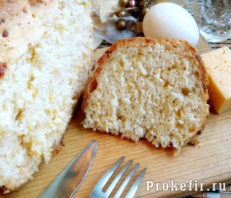 Хлеб с сыром на кефире