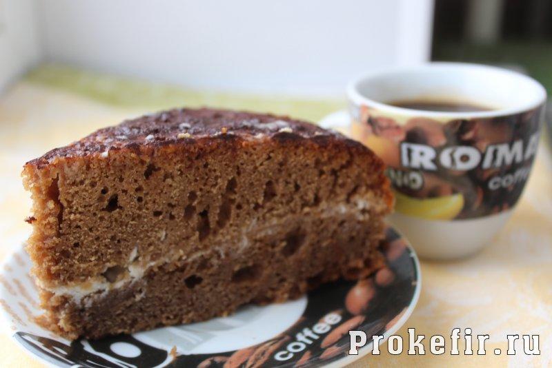 Кофейный торт на кефире со сметанным кремом