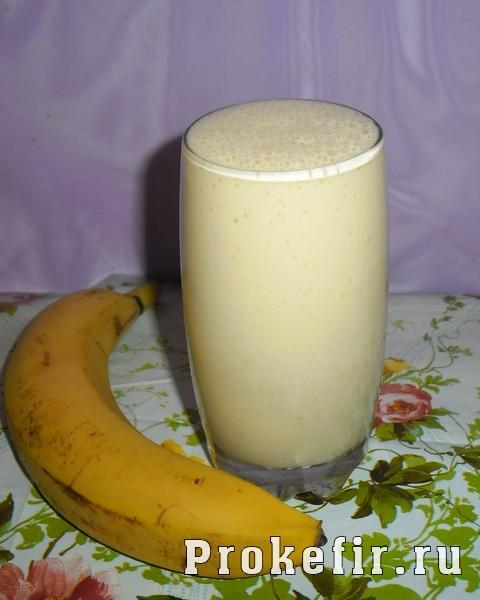 Кефирно-банановый коктейль