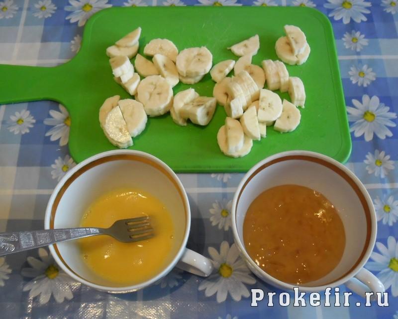 Коктейль из бананов и кефира