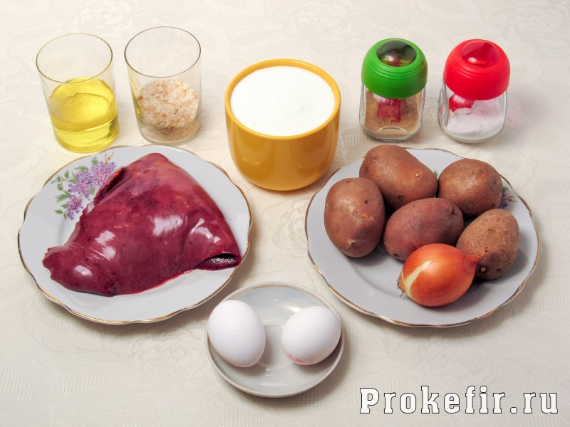 Котлеты из свиной печени с картошкой на кефире: фото 1