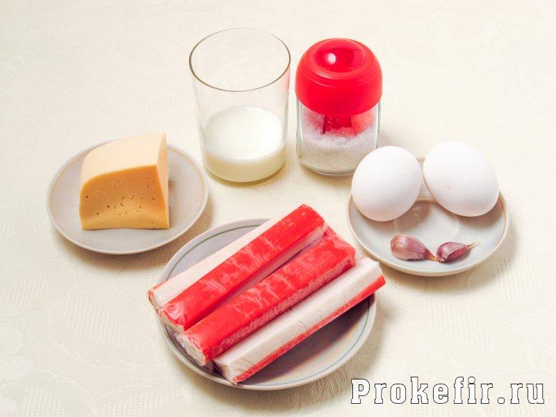 Крабовые шарики с сыром и чесноком с кефиром: фото 1