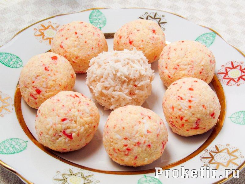Крабовые шарики с сыром и чесноком с кефиром: фото 6