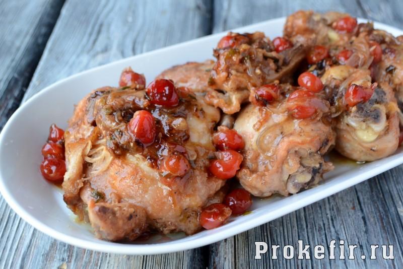 Куриные окорочка с вишней и кедровыми орехами: фото 8