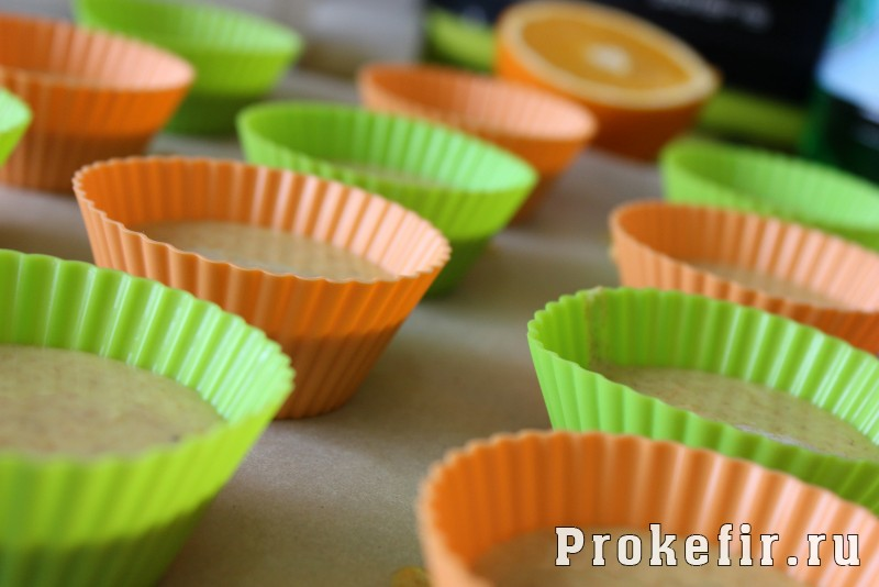 Маффины апельсиновые с шоколадом на кефире: фото 8
