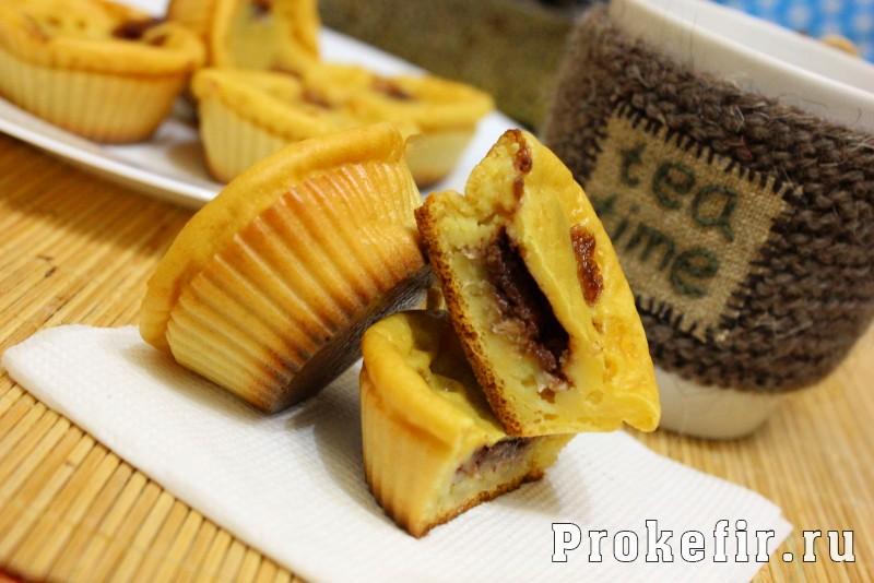 Маффины с бананом и шоколадом на кефире: фото 8