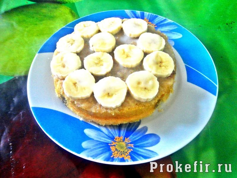 Манник на кефире с фруктами: фото 11