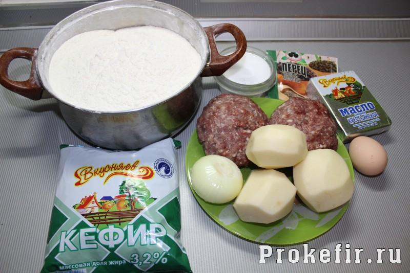 Манты с картошкой и фаршем на кефире: фото 1
