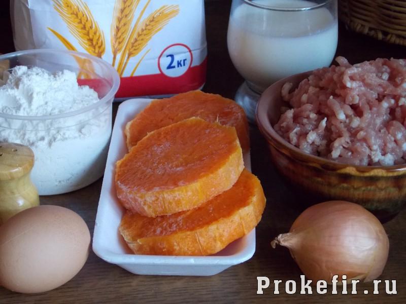 Манты с тыквой и мясом на кефире: фото 1