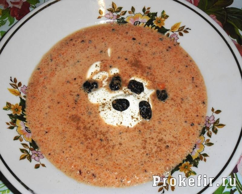 Кефирный суп с морковкой и изюмом, вариант 2