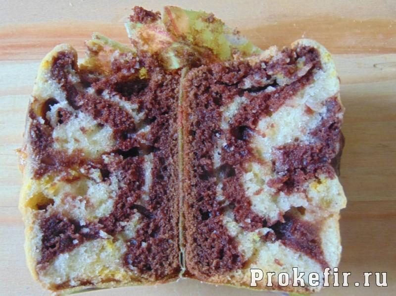 Мраморные кексы на кефире: фото 11