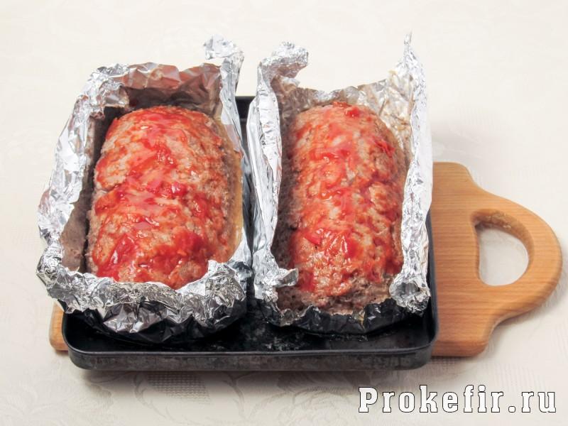 Мясной хлеб в духовке с кефиром: фото 7