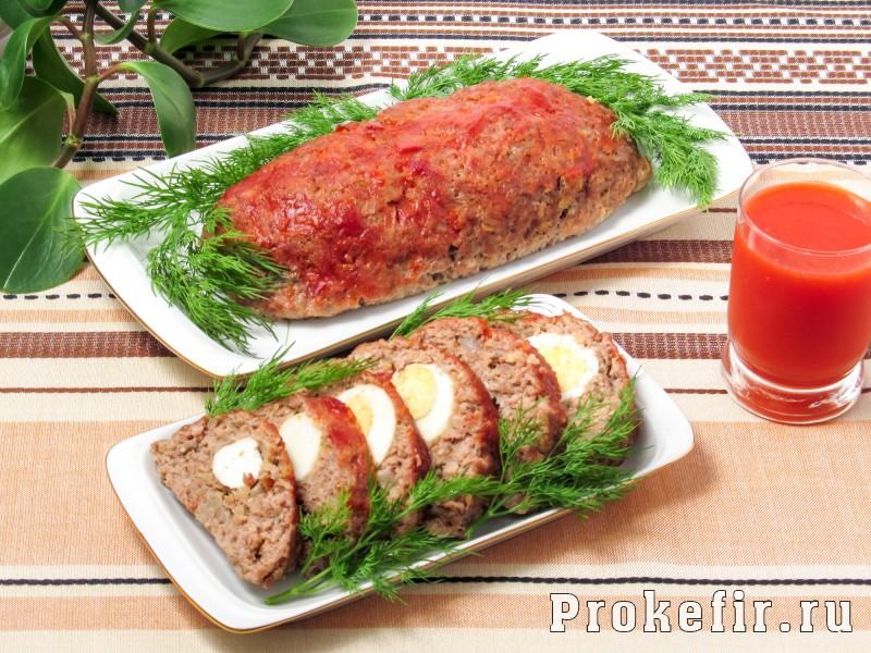Мясной хлеб в духовке с кефиром: фото 8
