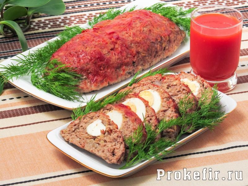 Мясной хлеб в духовке с кефиром